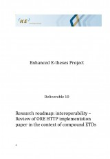 Research roadmap: interoperability – Review of ORE HTTP implementation paper in the context of compound ETDs