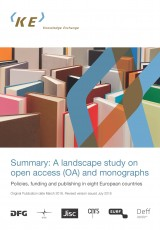 Summary: A landscape study on open access (OA) and monographs (revised July 2018)