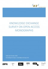 Knowledge Exchange Survey on Open Access Monographs