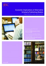Jisc Report: Economic Implications of Alternative Scholarly Publishing Models