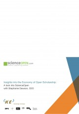 Insights into the Economy of Open Scholarship: A look into ScienceOpen with Stephanie Dawson, CEO